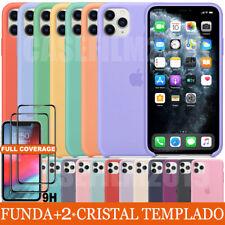 FUNDA+CRISTAL TEMPLADO PARA IPHONE 11 ORIGINAL SILICONA OEM CARCASA CASE COVER