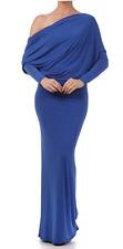 S * SAPPHIRE BLUE Multi Way CONVERTIBLE Reversible MAXI DRESS Long Off Shoulder