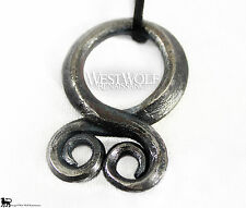 Viking Troll Cross Pendant - Hand-forged Iron -- Norse/Medieval/Jewelry/Skyrim