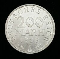 Germany 1923-A 200 Mark Coin Weimar Republic KM#35 Uncirculated