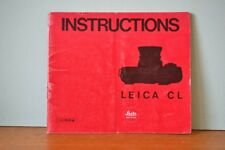 Vintage Leica CL camera manual  instructions