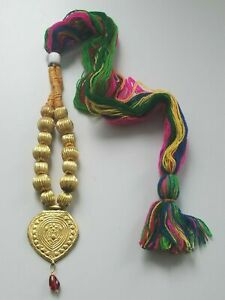 Punjabi Folk Cultural Bhangra Gidha Patiala Kaintha Pendant Cultural Necklace A5