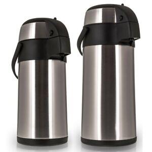 3L/5L Litre Stainless Steel Airpot Hot Tea Coffee Drinks Vacuum Flask Jug Pump