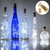 """LED Bottle Cork String Lights 30"""" Wine Bottle Fairy Mini String Lamp Cool White"""