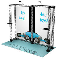 Crosswire exhibits 10x10 booth display trade show pop-up