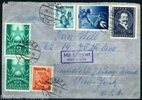 AUSTRIA GRAZ 7/19/1949 AIR MAIL COVER TO NEW YORK