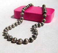estilo vintage descolorido color plata collar de cuentas