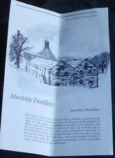 Gently Used Vintage Pamphlet - Aderfeldy Distillery - Aderfeldy, Perthshire Gdc