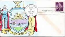 GOVERNOR OF NEW YORK AL SMITH,  *RARE* MAE WIEGAND HAND PAINTED FDC 6/26/1943