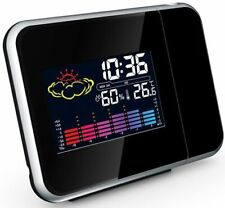 Projection Alarm Clock With Weather Station displaying Temperature - USB Mains L