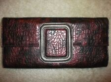 Chinese Laundry Faux Leather Chain Black Bordeaux Conv Shoulder Bag Clutch New