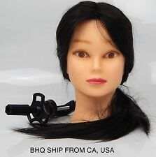 "24"" COSMETOLOGY MANNEQUIN HEAD 50% HUMAN HAIR WITH TABLE CLAMP"