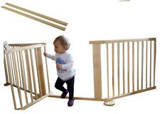 Baby Türschutzgitter, Schutzgitter für Tür, holz natur 273cm +