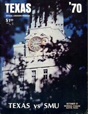 1970 SMU Mustangs v Texas Program 10/31/70 Longhorns National Champs Ex 29634