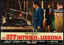 FOTOBUSTA, DA 077 INTRIGO A LISBONA, BRETT HALSEY, AUTO CAR MAGGIOLINO, POSTER