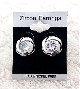 Hypo-allergenic Stud Sensitive Ears Knot Style Cubic zirconia Earrings 43