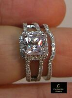 2.25 ct Princess-Cut Diamond Bridal Wedding Set