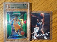 2019 Prizm Draft Picks Ja Morant Green Prizm RC BGS 9.5 & RJ Barrett Luminance