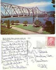 Vintage postcard 1956 Rip Van Winkle Bridge Catskill Hudson River NY Ravena