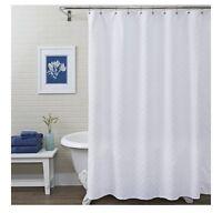 "Better Homes & Gardens 72"" White Shells Fabric Shower Curtain"