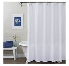 "Better Homes & Gardens 72"" White Shells Fabric Shower Curtain"