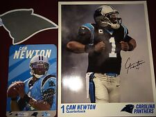 Carolina Panthers NFL football team Play60 card LOT + CAM NEWTON 8X10 & sticker