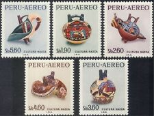Peru 1967 Nazca Culture/Pottery/Craft/Art/Birds/History/Heritage 5v set (n43972)