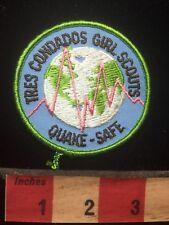 Vtg TRES CONDADOS QUAKE SAFE Girl Scout Patch Badge - Earthquake California 76J2
