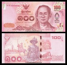 Thailand 100 Baht 2015 King Rama  P-New  UNC
