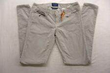 New American Eagle Womens #2200 Light Gray Jegging Stretch Corduroy Pants 4 Reg
