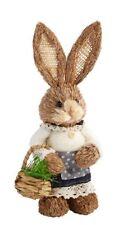 "Easter Bunny Girl Rabbit Basket Egg Decor 13"" Spring Wreath Pick Chocolate Eggs"