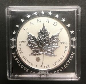 CANADA 2012 MAPLE LEAF Fabulous Collection F15 Privy Mark 1 Oz 999.9 Silver Coin