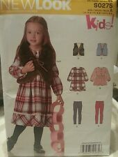 New Look Kids! by Simplicity S0275 Sewing Patterns For Girls Sizes 3-8