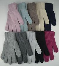 Johnstons Damen Schottisch Kaschmir Handschuhe Schwarz Grau Pink Blau Braun