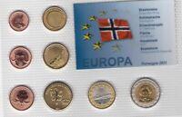 NORWAY - PROBE PATTERN ESSAI 8 DIF SET 0.01 - 2 EURO 2011 YEAR