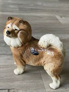 Vintage Coopercraft Chow Chow Porcelain Figure Dog Figurine Ornament GC