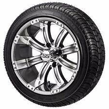 (4)Golf Cart 205/30-14 Tire on a 14x7 Gunmetal Casino Wheel w/FREE Freight
