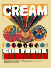 Cream a - Concert VINTAGE BAND POSTERS Song Rock Travel Old Advert #ob