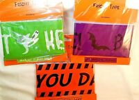 3 Fright Tape Halloween Decoration Keep Out,Beware,Enter If you Dare New