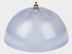 """Westinghouse LAMP SHADE 8"""" Clip-On White Acrylic Prismatic Dome 1 pk 4"""" H 81493"""