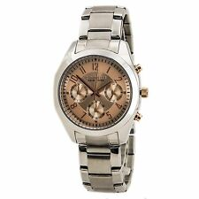 Caravelle New York 45L143 Women's Rose Dial Quartz Chrono Watch