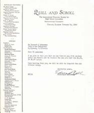 Vintage 1935 QUILL AND SCROLL letter to 17 year old FORREST J ACKERMAN