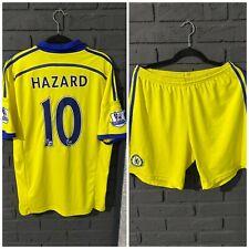 CHELSEA FC 2014-2015 SOCCER SHIRT SIZE L SET SHORTS SIZE L JERSEY  #10 HAZARD