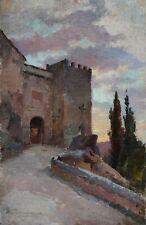 Öl-Gemälde alt antik Romantik Impressionismus Jugendstil Landschaft Italien 1890