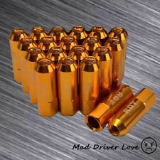 GOLD 60MM OPEN END 20PC ALUM. TUNER LUG NUT M12X1.5mm FOR S2000 SC300 SC400 RX8