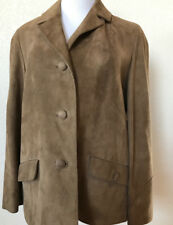 "Soft Suede Blazer 3 Button Jacket Leather ""Denise"" by Begedor Israel 39"" Bust"