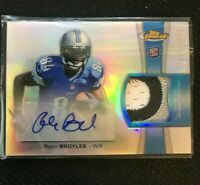 2012 Ryan Broyles Topps Finest Rookie RC 4-Color Patch Auto 515/1500 Lions