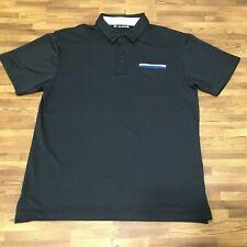 New listing Travis Mathew Shirt Mens Black Extra Large Polo Shirt Golf Front Pocket Rugby XL