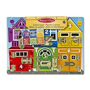 Latches Board Kids Toy - Educational Wooden Latches Board Melissa & Doug 13785