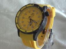 Runde Armbanduhren mit Silikon -/Gummi-Armband, Alarm-Funktion und mattem Finish